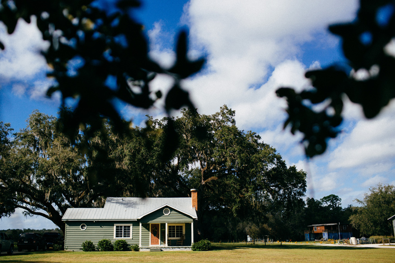 THE OAKS AT WINDSONG WEDDING: little house with big blue sky