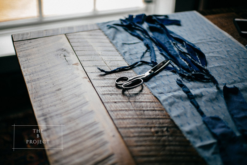 INDUSTRIAL CHAMBRAY WEDDING INSPIRATION: scissors chambray fabric