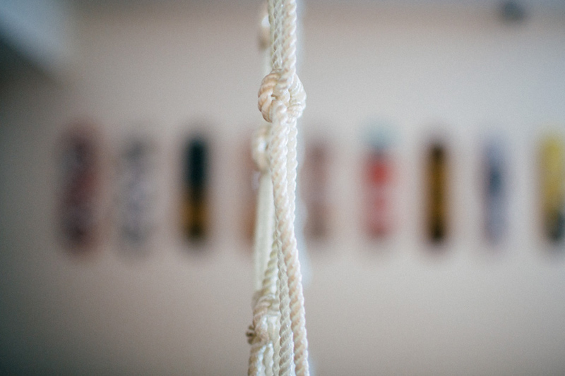 POST CARD INN WEDDING: hanging ropes