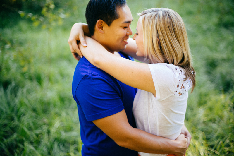 LAKELAND ENGAGEMENT SESSION: wrapping arms around his neck